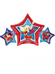 Globo estrella aluminio DC Super Hero Girls™ 22 x 43 cm