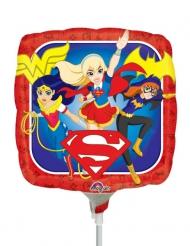 Globo pequeño cuadrado aluminio DC Super Hero Girls™ 23 x 23 cm