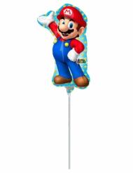 Globo pequeño aluminio Super Mario™ 20 x 30 cm