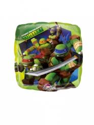 Globo pequeño cuadrado aluminio Tortugas Ninja™ 23 cm