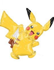 Globo pequeño aluminio Pikachu™ 27x33 cm
