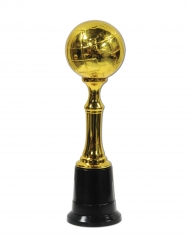 Trofeo de plástico Globo dorado 21 cm