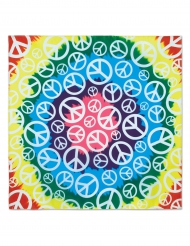 Bandana hippie peace multicolor 55 x 55 cm