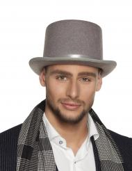 Sombrero de copa gris adulto