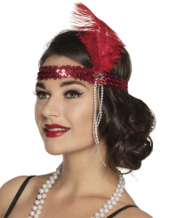 Diadema charleston roja adulto
