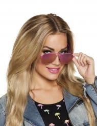 Gafas aviador contorno rosa adulto