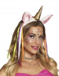 Diadema unicornio con fosforito mujer