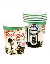 6 Vasos Rock´n Roll 25 cl
