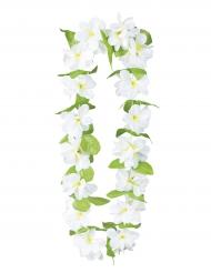 Collar flores blancas lujo adulto