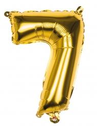 Globo aluminio número 7 dorado 36 cm