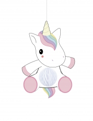 Decoración para colgar bebé unicornio 25 cm
