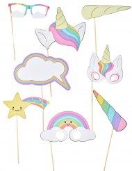 8 Accesorios photocall bebé unicornio