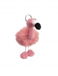 Llavero flamenco rosa peluche 13 x 10 cm