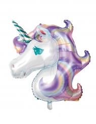Globo aluminio unicornio pastel 125 x 108 cm