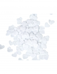 Confeti de corazones blancos 20 g
