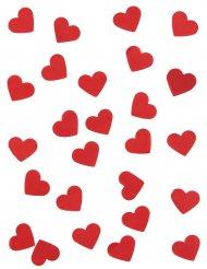 Confetis de papel corazones rojos 20 gr