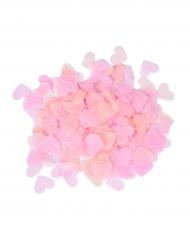 Confeti de papel corazones rosas 20 g