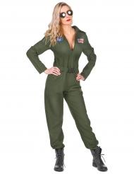 Disfraz piloto de avión mujer