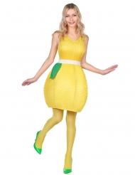 Disfraz vestido limón amarillo mujer