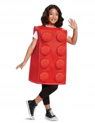 Disfraz pieza de Lego rojo niño