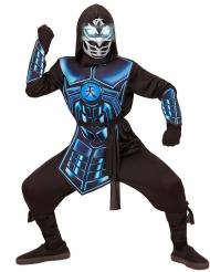 Disfraz cyber ninja luminoso y sonoro niño