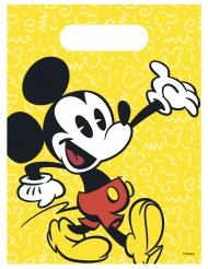 6 Bolsas de regalo Mickey™ retro 16.5 x 23 cm