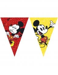 Guirnalda 9 banderines Mickey™ retro 26 cm x 2.3 m