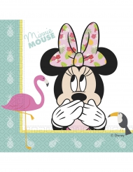 20 Servilletas de papel Minnie™ tropical 33 x 33 cm