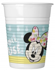 6 Vasos de plástico Minnie™ tropical 200 ml