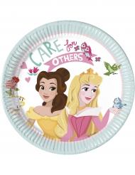8 Platos pequeños de cartón Disney Princesses™ 20 cm