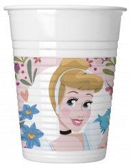 8 Vasos de plástico Disney Princesses™ 200 ml