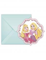 6 Tarjetas de invitación con sobres Disney Princesses™