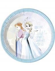 8 Platos de cartón Frozen™ 23 cm
