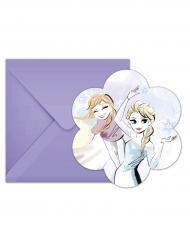 6 Tarjetas de invitación  sobres Frozen™