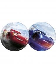 8 Platos de cartón 23 cm Cars 3™ Flash McQueen™ & Jackson Storm™