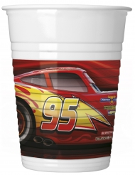 8 Vasos de plástico Cars 3™ 200 ml