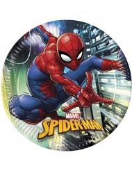 8 Platos de cartón Spiderman™ 23 cm