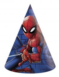 6 Gorros de fiesta cartón Spiderman™