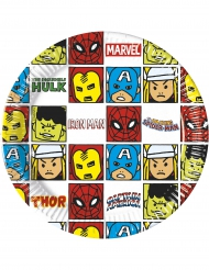 8 Platos de cartón Avengers™ 20 cm