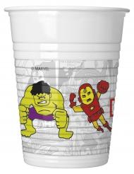 8 Vasos de plástico Los Vengadores™ 200 ml