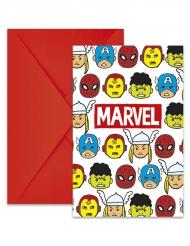 6 Tarjetas de invitación con sobres Los Vengadores™