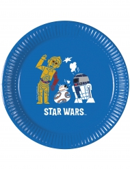 8 Platos cartón Star Wars Forces™ 20 cm