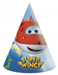 6 Gorros de fiesta cartón Super Wings™