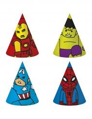 6 Gorros de fiesta de cartón Los Vengadores™