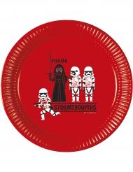 8 Platos de cartón Star Wars Forces™ 23 cm