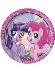 8 Platos de cartón Pony & Friends™ 23 cm