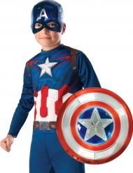 Escudo de plástico metalizado Capitán América™ 30 cm niño