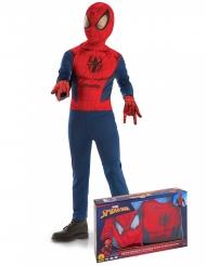 Disfraz clásico Spiderman™ con guantes niño en caja