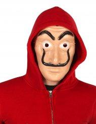 Máscara de ladrón con bigote negro adulto