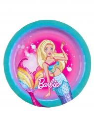 8 Platos pequeños de cartón Barbie Dreamtopia™ 18 cm